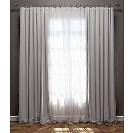 Комплект штор Блэкаут, светло-серый, 170*270 см