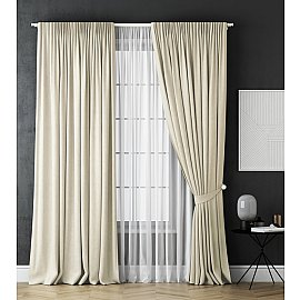 Комплект штор Каспиан, белый, 170*270 см