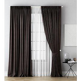 Комплект штор Каспиан, коричневый, 240*270 см