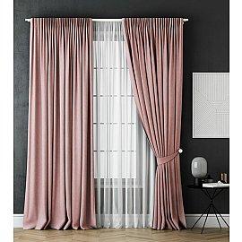 Комплект штор Каспиан, розовый, 240*270 см