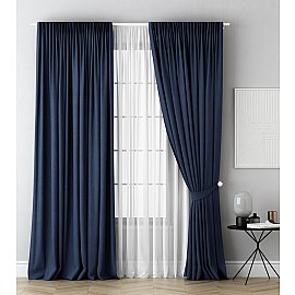 Комплект штор Каспиан, синий, 240*270 см