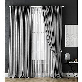 Комплект штор Каспиан, серый, 170*270 см