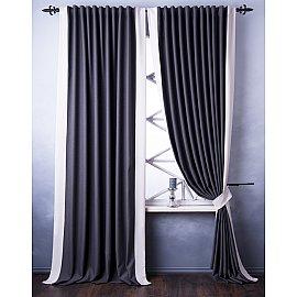 Комплект штор Нова, серый, 240*270 см