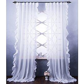 Комплект штор Бэтси, белый, 140*270 см