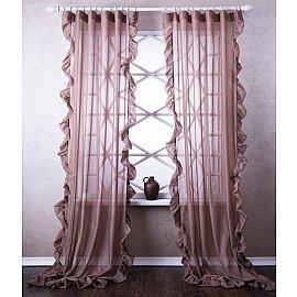 Комплект штор Бэтси, коричневый, 200*270 см