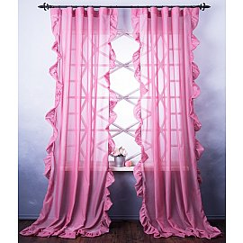Комплект штор Бэтси, розовый, 200*270 см