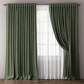 Комплект штор Омма, зеленый, 170*270 см