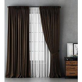 Комплект штор Алекс, коричневый, 240*270 см