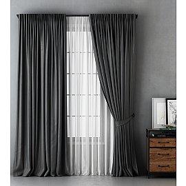 Комплект штор Алекс, серый