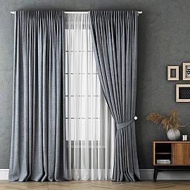 Комплект штор Маркус, серый, 170*270 см