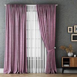 Комплект штор Маркус, розовый, 170*270 см