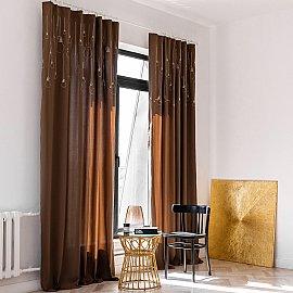 """Комплект штор """"Лэмпс"""", коричневый, 145*270 см"""