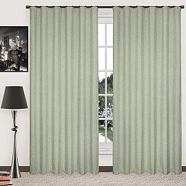 Комплект штор блэкаут-лен В505-8, оливковый, 250*270 см