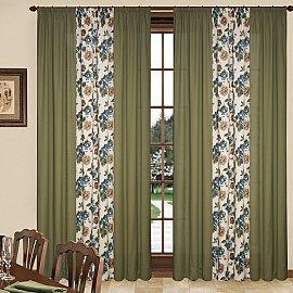 Комплект штор C450-3, синие цветы, 260*250 см