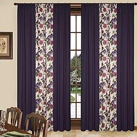 Комплект штор C450-5, сиреневые цветы, 260*250 см