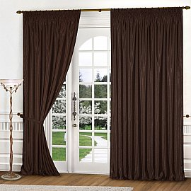 Комплект штор К301-1, темно-коричневый, 300*250 см
