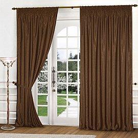 Комплект штор К301-2, коричневый, 250*240 см