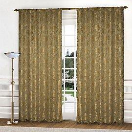 Комплект штор К322-5, оливковый, 145*260 см