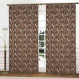 Комплект штор К331-1, коричневый, 250*240 см
