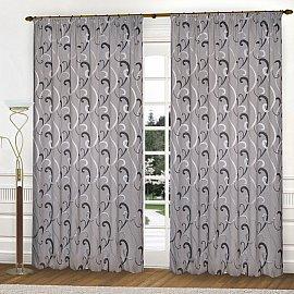 Комплект штор К331-5, серый, 150*270 см