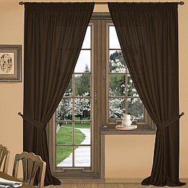 Комплект штор К332-1, темно-коричневый, 300*260 см