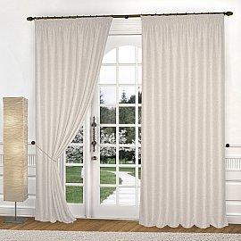 Комплект штор К335-1, кремовый, 150*270 см