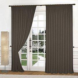Комплект штор К335-4, шоколадный, 300*270 см