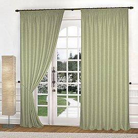 Комплект штор К335-7, оливковый, 150*270 см