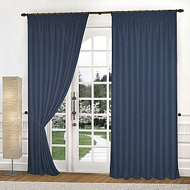 Комплект штор К335-8, синий, 300*250 см