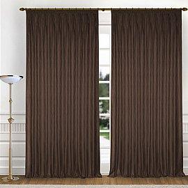 Комплект штор K336-6, коричневый, 250*260 см