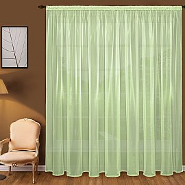 Тюль вуаль T101-7, зеленый, 300*240 см