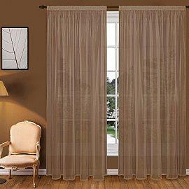 Тюль вуаль T102-10, коричневый, 150*280 см