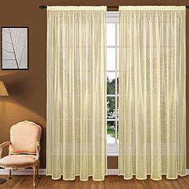 Тюль вуаль T102-4, желтый, 350*270 см