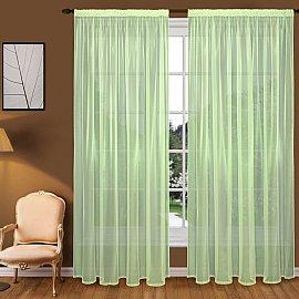 Тюль вуаль T102-7, зеленый, 150*260 см