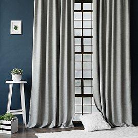 """Комплект штор с подхватами """"Конни"""", серый, 200*270 см"""
