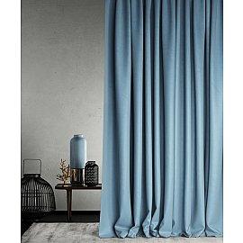 """Портьеры негорючие """"Бали"""", голубой, 145*290 см"""