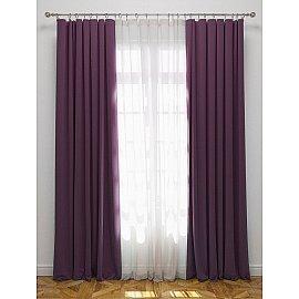"""Комплект штор с подхватами """"Блэкаут"""", фиолетовый, 170*270 см"""