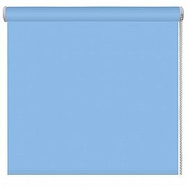Рулонная штора однотонная, голубой, ширина 48 см