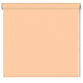 Рулонная штора однотонная, персиковый, ширина 62 см