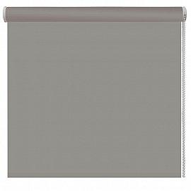 Рулонная штора ролло однотонная, серый, ширина 80 см