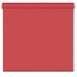 Рулонная штора однотонная, терракотовый, ширина 48 см