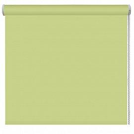 Рулонная штора ролло однотонная, зеленый, ширина 80 см