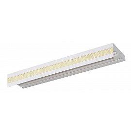 """Карниз потолочный пластиковый без поворота """"Акант"""", 3 ряда, белый, 400 см"""