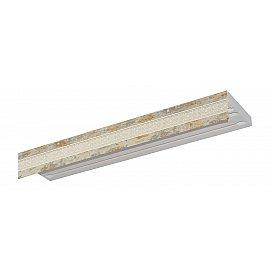 """Карниз потолочный пластиковый без поворота """"Акант"""", 3 ряда, краке, 200 см"""