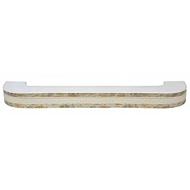 """Карниз потолочный пластиковый поворотный """"Акант"""", 2 ряда, краке, 300 см"""