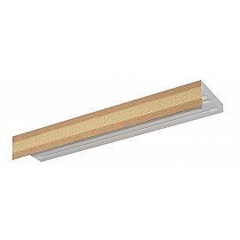 """Карниз потолочный пластиковый без поворота """"Акант"""", 3 ряда, песок, 400 см"""