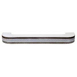 """Карниз потолочный пластиковый поворотный """"Акант"""", 2 ряда, серебро антик, 400 см"""