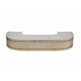"""Карниз потолочный пластиковый поворотный """"Бленда Меланж"""", краке, 3 ряда, 220 см"""