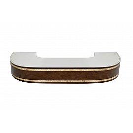 """Карниз потолочный пластиковый поворотный """"Бленда Меланж"""", венге, 2 ряда, 340 см"""