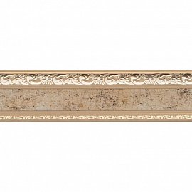 """Карниз потолочный пластиковый без поворота """"Гранд"""", 2 ряда, бронза, 160 см"""